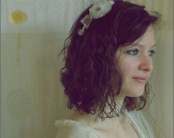 Star, cotton headband, tulle, Star, mother of Pearl