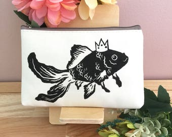 Goldfish Handprinted Pouch