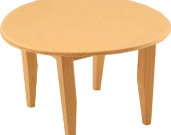 free shipping unfinished wood pine round kitchen table craft dollhouse miniature furniture - Round Pine Kitchen Table