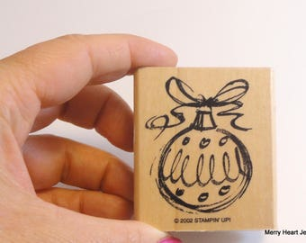 Stampin' Up Ornament Wooden Block Stamp