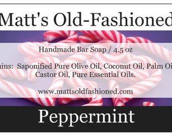 Peppermint Handmade Bar Soap
