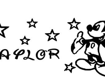 Mickey Mouse Disney Decal, Disney World, Personalized, Monogram, Car Decal, Laptop Decal, Vinyl Lettering, Yeti Cup Decal, Yeti Cup Decal