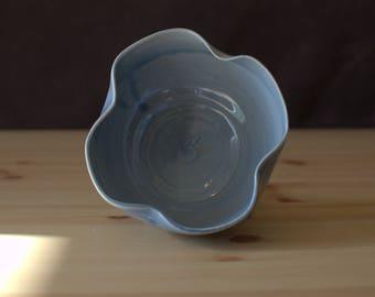 Handmade, Wheel Thrown, Porcelain | Petal Bowl