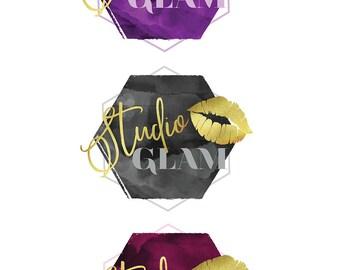 Premade Fashion Logo Design   Gold Foil Logo Design   Beauty Logo Design   Fashion Blog Logo   Wordpress Theme Logo   Squarespace Theme Logo