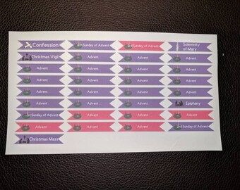 Advent Planner Stickers
