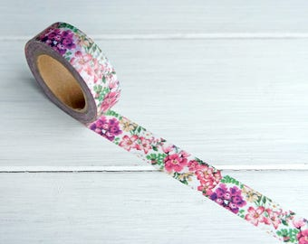 Tropical Flowers Washi Tape Floral Decorative Paper Masking Tape / 815