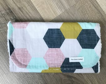 Hexagon burp cloth
