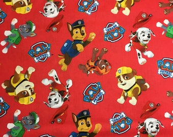 Paw Patrol Fabric by the Yard - 36x44 inches off the bolt