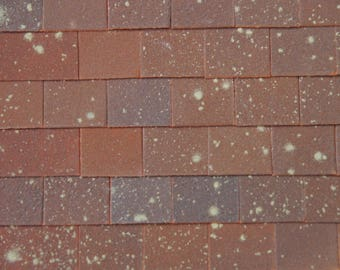50 1:12th Dolls House Versi Traditional Tile & Halves Roof Tiles
