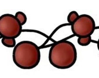 E-Pattern Primitive Twigs & Berries Cross Stitch Pattern 08