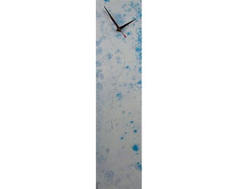 Light Blue, Contemporary Art, Abstract Glass Art, Blue, Unique wall clocks, kitchen, dining room, Abstract Wall Hanging, Modern