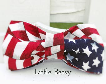 Dog Bow-Tie, Dog, Dogs, Dog Collar, Independence Day, 4th of July, Bow-Tie, Colorful Collar, Red Bow-Tie, Girl Dog, Boy Dog, 4th of July Dog