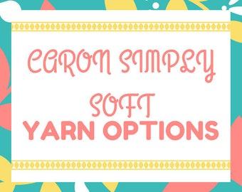 Caron Simply Soft Yarn Options
