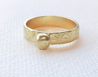 Lux Textured Ring
