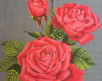 Great Irish Linen Vintage Rose tea towel