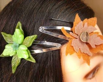 Leaf Hair Clips