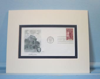 The Pennsylvania Academy of Fine Arts founded in 1805 and the First Day Cover of its 150th Anniversary