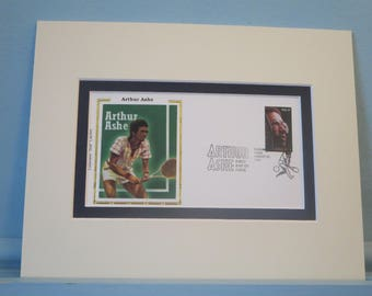 Tennis Great Arthur Ashe wins at Wimbledon & First Day Cover of his own stamp