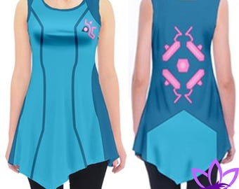 Zero Suit Samus Tunic Shirt Metroid