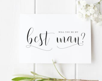 Best Man Proposal Card Will you be my Best Man Card, Groomsman Usher Asking Card Best Man Wedding Card