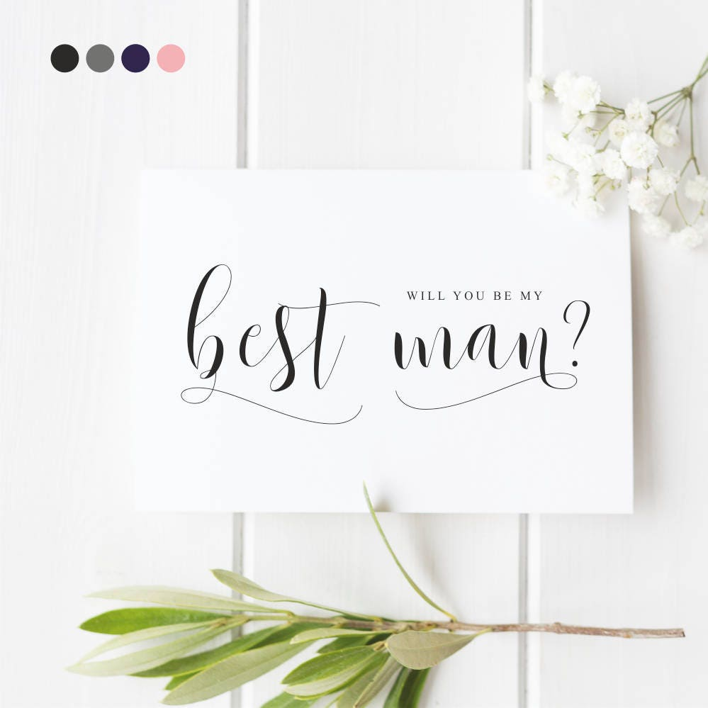 best man proposal card will you be my best man card groomsman usher