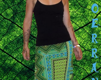 Long skirt in stretch mesh 'Green Life'...