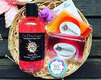 Spa kits gifts etsy uk rose orange bergamot luxury vegan gift basket bath or shower gifts solutioingenieria Image collections