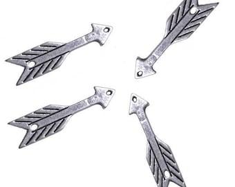Set of 3 dividers 3 cm silver metal arrows