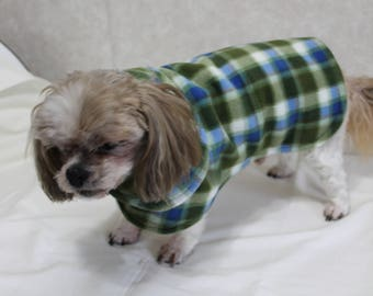Fleece Plaid Dog Coat