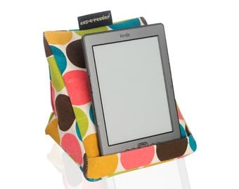 e-reader cushion. Kindle stand - Large spot design, XL phone stand. Nook cushion. Kobo pillow