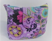 Purple and aqua Doll Diaper bag set, pretend play, gifts for girls, big sister gift, toddler gift, doll accessories, just like mommy