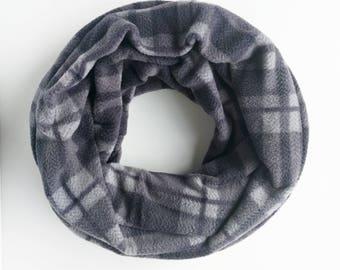 Fleece Infinity Scarf, Chunky Scarf, Gray Infinity Scarf, Winter Scarf, Christmas Gift