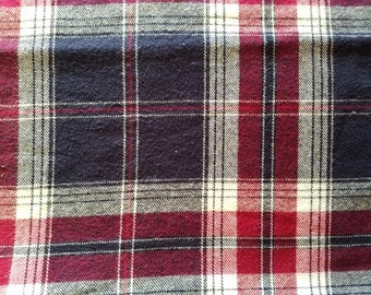 Plaiditudes Plaid Brushed Cotton Berry Delight Flannel Fabric sold by the yard