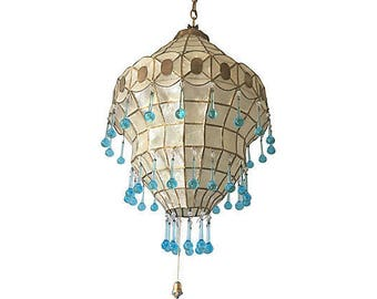 1950s capiz shell chandelier - Capiz Shell Chandelier