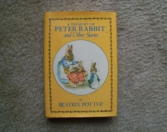 Vintage 'A Treasury of Peter Rabbit and Other Stories'  by Beatrix Potter, Avenel Books 1978