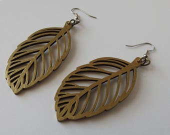 Recycled Gold Leaf Earrings