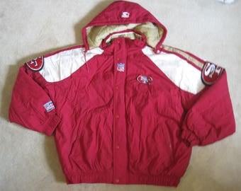 Vintage San Francisco 49ers NFL Proline Starter Jacket/ Coat