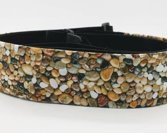 Pebble Beach Threaded Guitar Strap; Rock Guitar Strap; Country Guitar Straps; Cool Guitar Strap; Guitar Straps; Hippie Guitar Strap