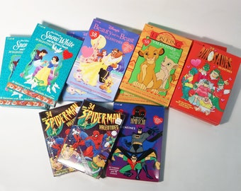 12 Boxes Vtg 1990's Disney & Marvel Superheroes Valentines Day Cards  All Sealed