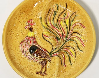 Mid-Century Modern California USA Pottery Rooster Divided Platter / Tray #1062