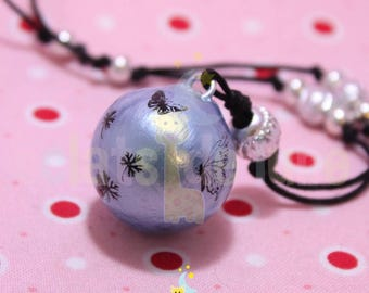 Pregnancy's Bola Harmonyball genuine Blue Metallic magic Butterfly patterns