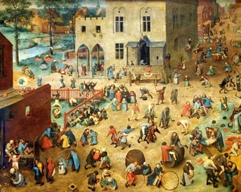 "Placemat Brueghel the old ""Children's games"""