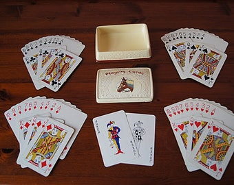 Vintage Playing Cards with Ceramic Box.
