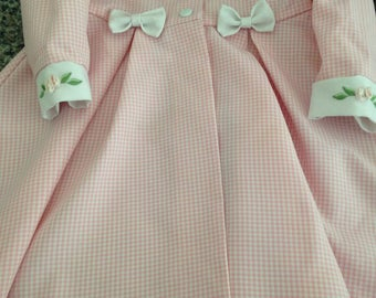 Jessica Ann Pink and White Gingham Checked Girl's Dress Jacket