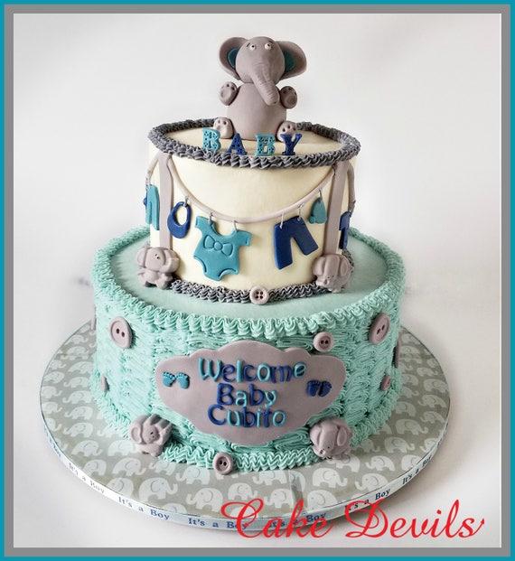 Elephant Baby Shower Cake Decorations Baby Elephant Cake Topper