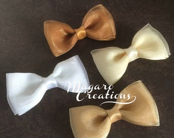 Fabric bows,girl bows,ribbon bows,headband bow,baby headband bow,pink bow,blue bow,boutique bows,orchid bow,yellow bow,bow applique.