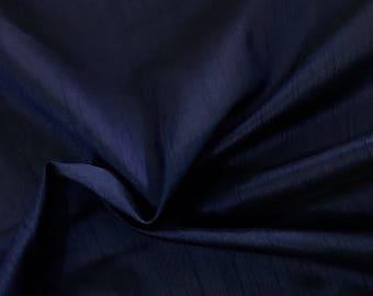 30% OFF Navy Blue Dupioni Art Silk Fabric, Handloon Silk Fabric Dress Apparel Wedding  Bridal Fabric Indian Silk Fabric By Yard