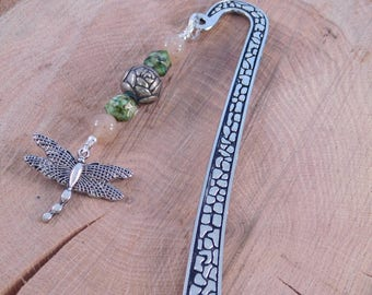 Dragonfly Bookmark - Handmade Bookmark - Beaded Bookmark - Book Accessories - Nature Lovers Gift