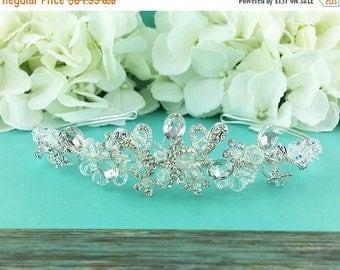 SALE 50% Off Swarovski Crystal Bridal tiara headpiece, wedding tiara, wedding headpiece, rhinestone tiara, crystal tiara, crystal accessorie