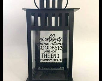 Sympathy Gift, Memory Candle, Goodbyes Are Not Forever, Sympathy Candle, Remembrance, Keepsake, Bereavement Gift,Loss of a Loved One